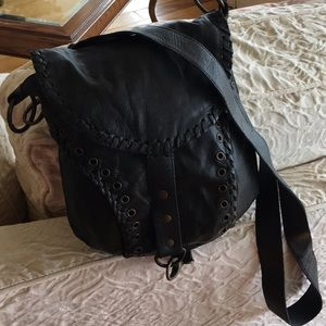Handbags - Black casual over  the chest bag